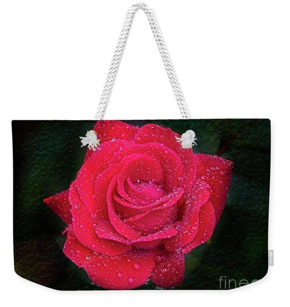 Morning Mist On Red Rose Weekender Tote Bag