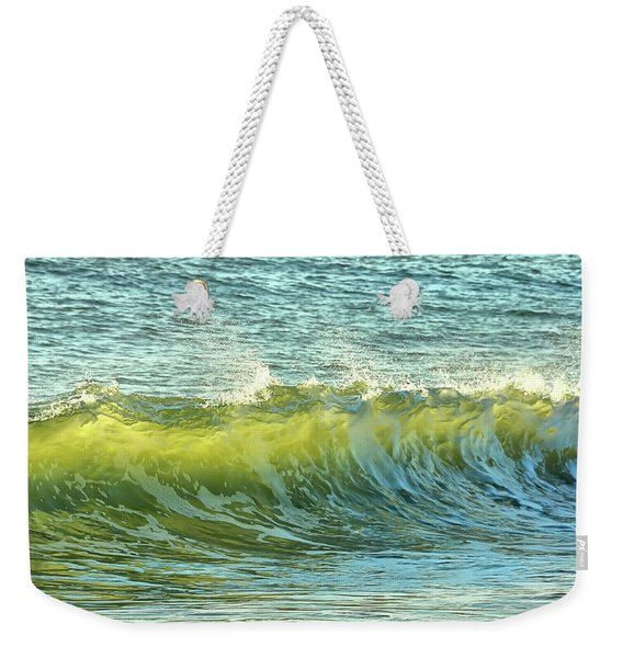 Weekender Tote Bag featuring the photograph Morning Ocean Break by JAMART Photography