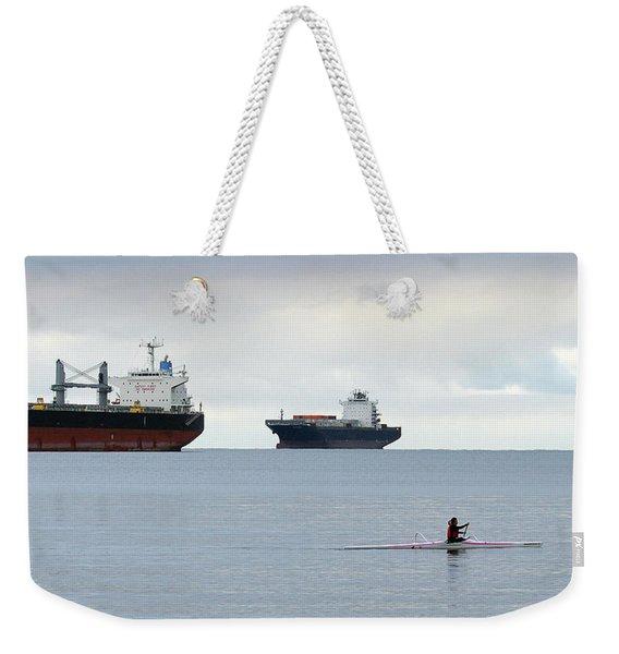 Morning Paddle Weekender Tote Bag