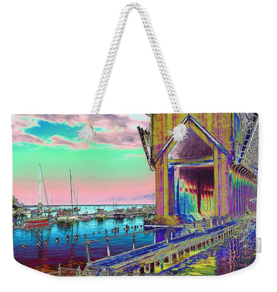 Morning Pink Marquette Ore Dock Weekender Tote Bag
