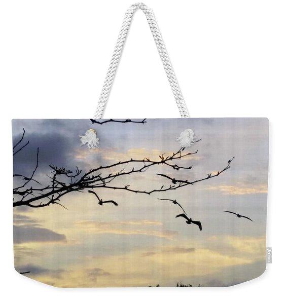 Morning Sky View Weekender Tote Bag