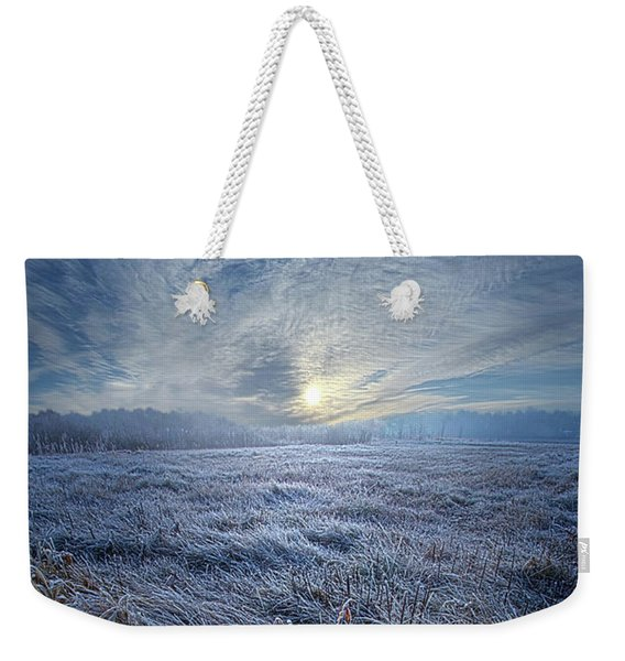Morning Time Blues Weekender Tote Bag