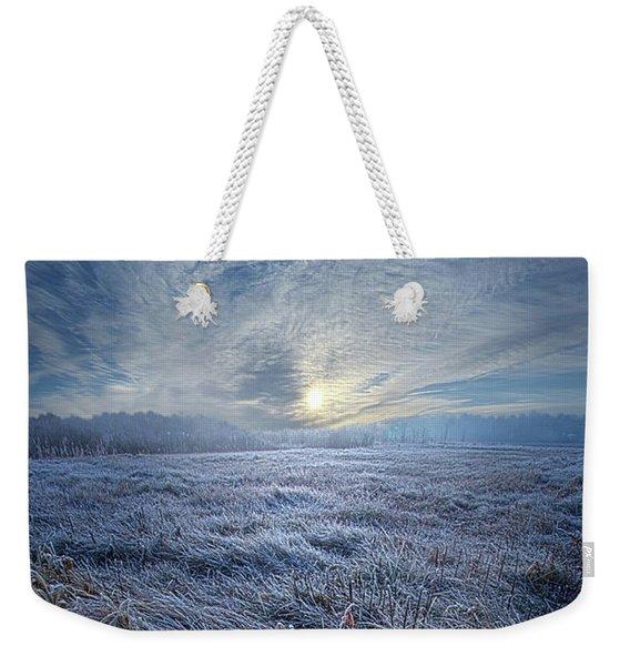 Morning Time Blues Weekender Tote Bag