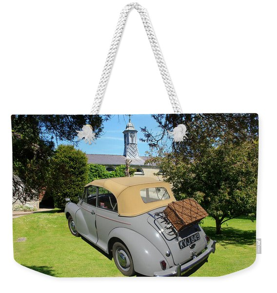 Morris Minor Grey Convertible Weekender Tote Bag