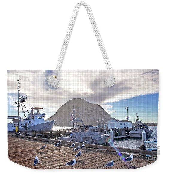 Morro Bay Harbor Weekender Tote Bag