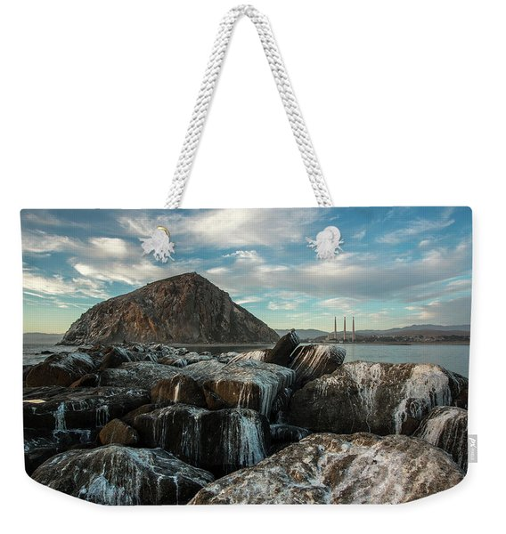 Morro Rock Breakwater Weekender Tote Bag