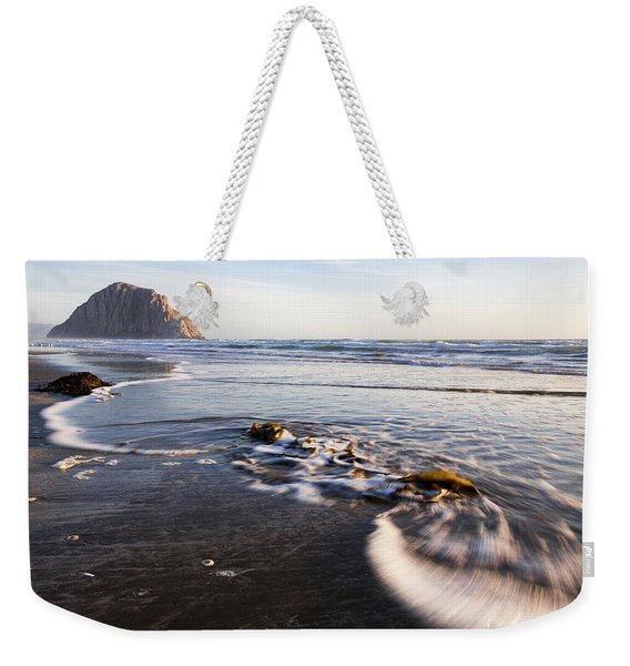 Morro Rock Ebb Tide Weekender Tote Bag