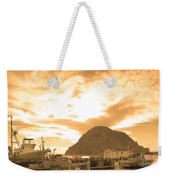 Morro Rock Sky Weekender Tote Bag