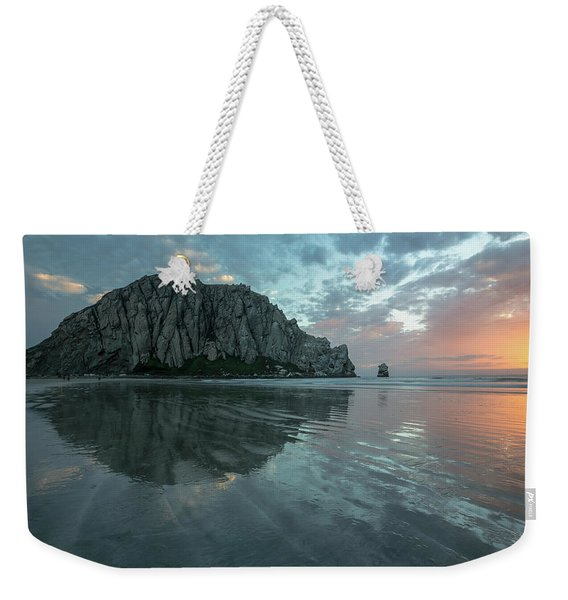 Morro Rock Sunset Weekender Tote Bag