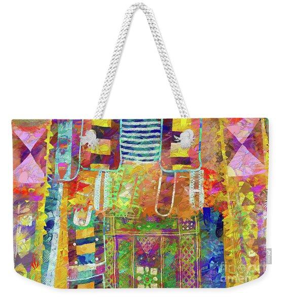Mosaic Garden Weekender Tote Bag