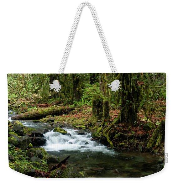 Mossy Cascade Weekender Tote Bag