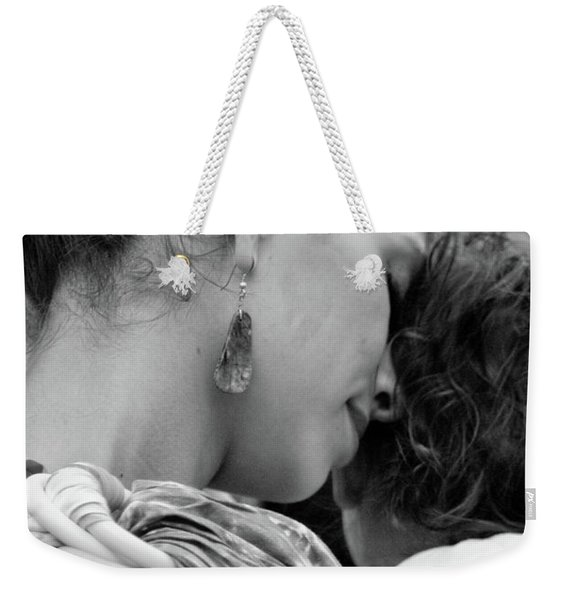 Weekender Tote Bag featuring the photograph Mother And Child by Catherine Sobredo