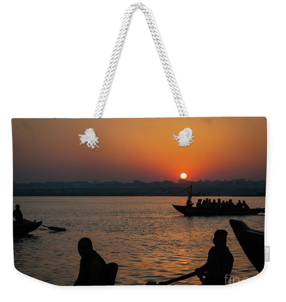 Weekender Tote Bag featuring the photograph Mother Ganges by Robin Zygelman