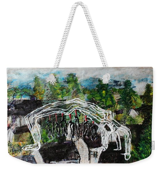Mother Money Begins To Collapse Weekender Tote Bag