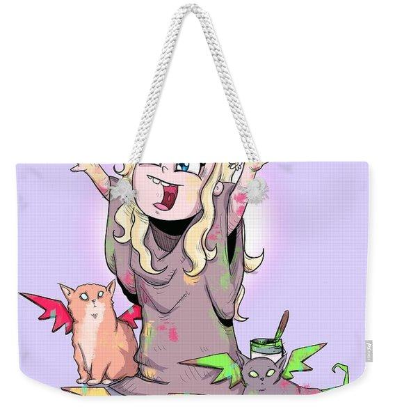 Mother Of Kittens Weekender Tote Bag