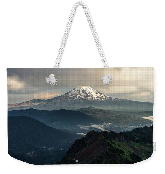 Mount Adams In Light Weekender Tote Bag