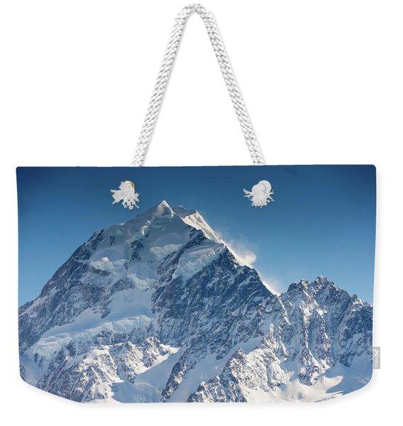 Mount Cook Aoraki Summit Ridge Weekender Tote Bag