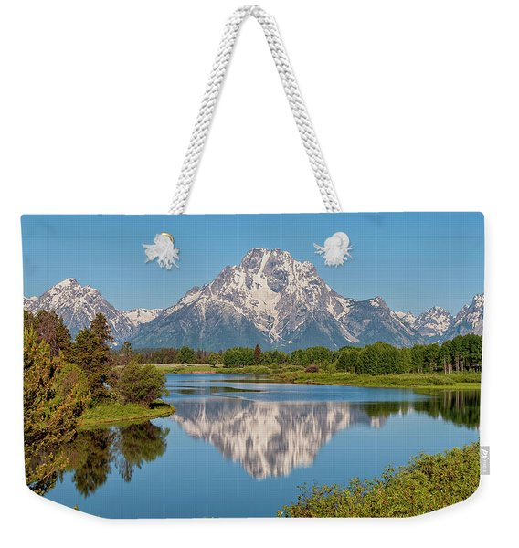 Mount Moran On Snake River Landscape Weekender Tote Bag