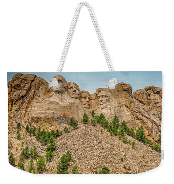 Weekender Tote Bag featuring the photograph Mount Rushmore by Dheeraj Mutha