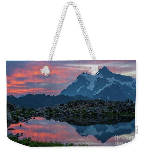 Mount Shuksan Sunrise Fire Weekender Tote Bag