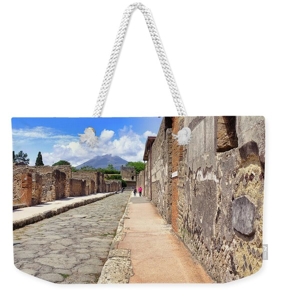 Mount Vesuvius And The Ruins Of Pompeii Italy Weekender Tote Bag