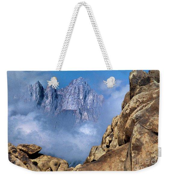 Mount Whitney Clearing Storm Eastern Sierras California Weekender Tote Bag