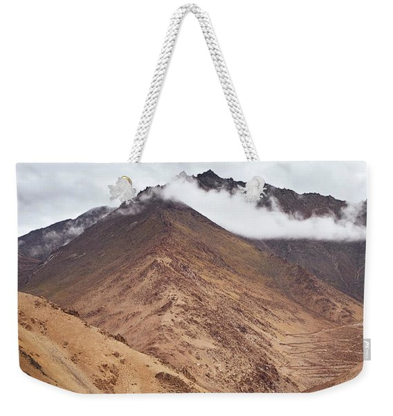 Weekender Tote Bag featuring the photograph Mountain Farming by Whitney Goodey