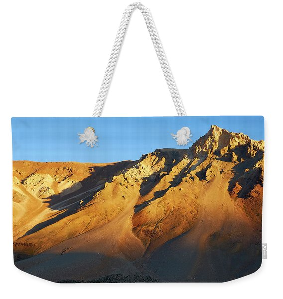 Weekender Tote Bag featuring the photograph Mountain Gold by Whitney Goodey