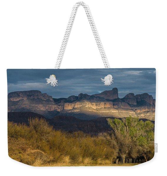 Mountain Illumination Weekender Tote Bag