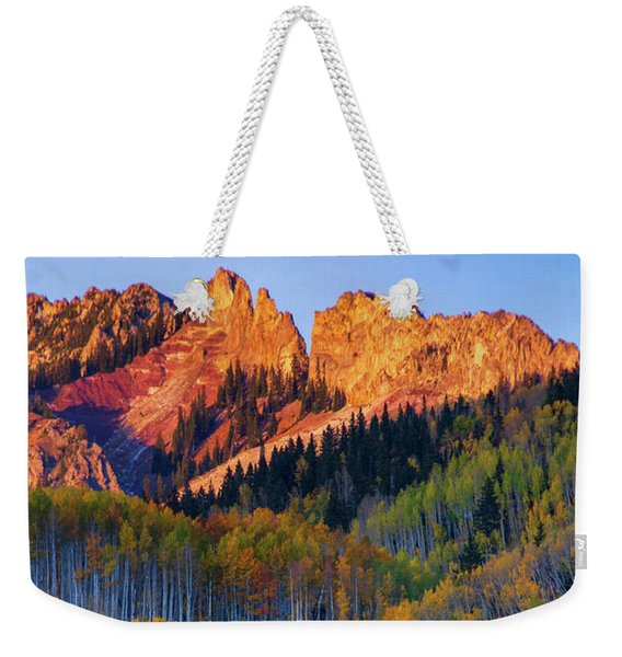 Weekender Tote Bag featuring the photograph Mountain Light by John De Bord