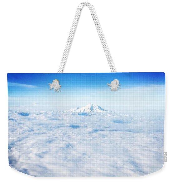Mountain Peak In Blue Weekender Tote Bag