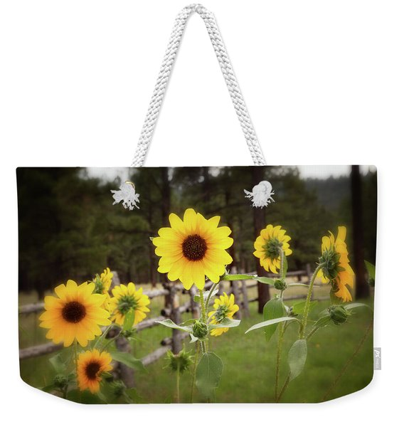 Mountain Sunflowers Weekender Tote Bag
