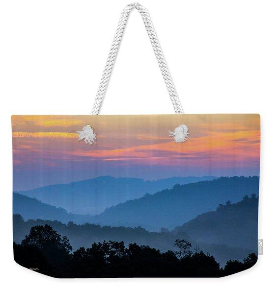 Mountain Tide Weekender Tote Bag