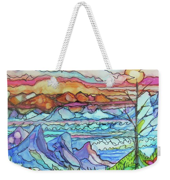Mountains And Sea Weekender Tote Bag