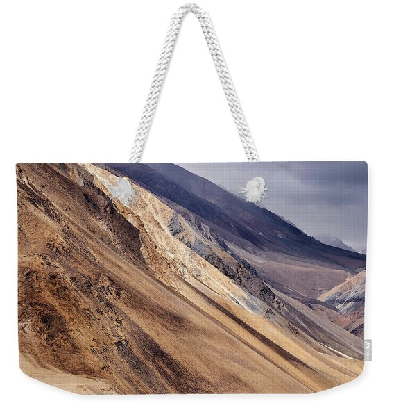 Weekender Tote Bag featuring the photograph Mountainside by Whitney Goodey