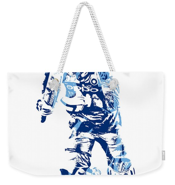 Ms Dhoni International Cricket Player Pixel Art 4 Weekender Tote Bag