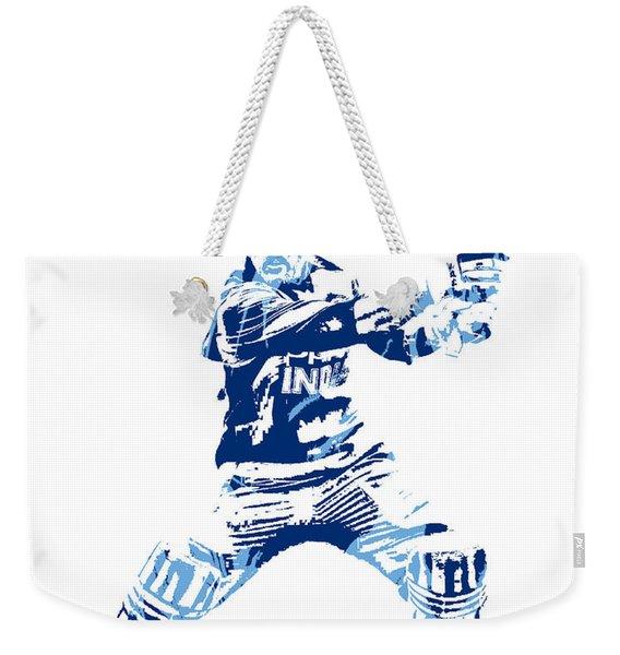 Ms Dhoni International Cricket Player Pixel Art 5 Weekender Tote Bag