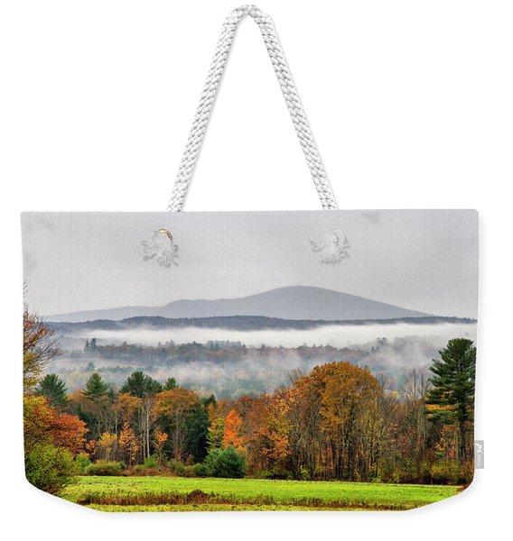 Mt. Kearsage Foggy View Weekender Tote Bag