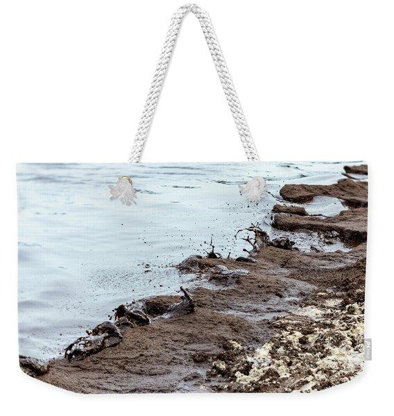 Muddy Sea Shore Weekender Tote Bag