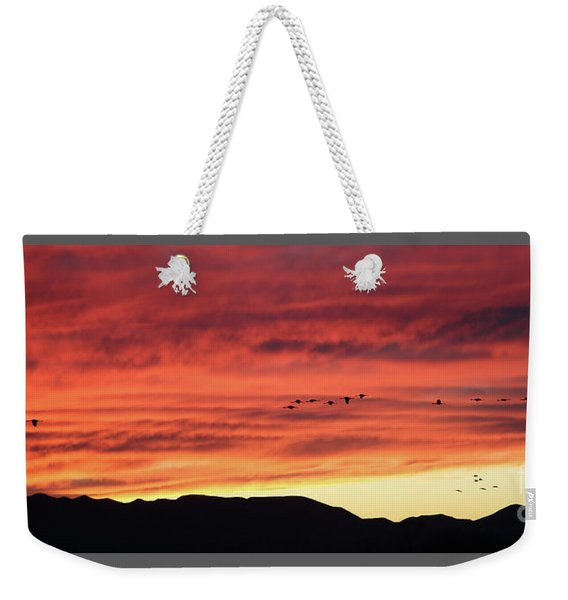 Mule Mountains Sunset Weekender Tote Bag