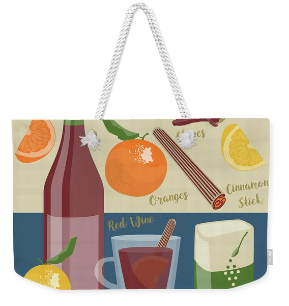 Mulled Wine Weekender Tote Bag