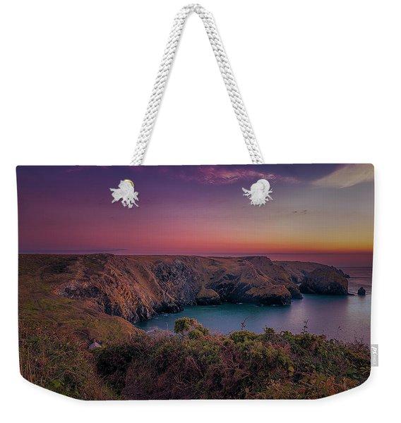 Mullion Cove Cornwall Sunset Weekender Tote Bag