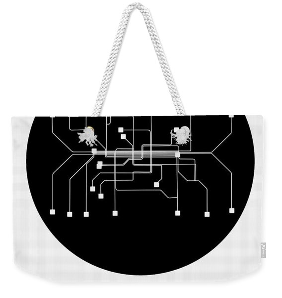Munich Black Subway Map Weekender Tote Bag
