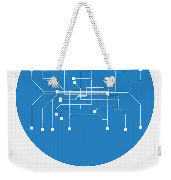 Munich Blue Subway Map Weekender Tote Bag