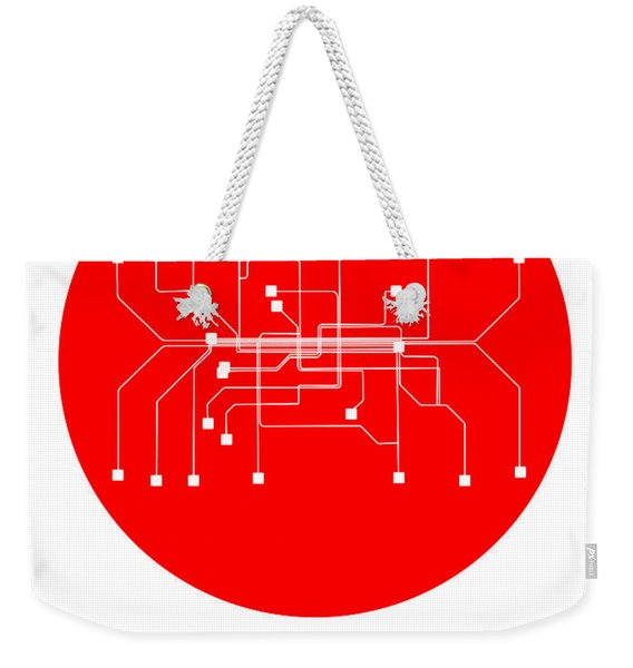 Munich Red Subway Map Weekender Tote Bag