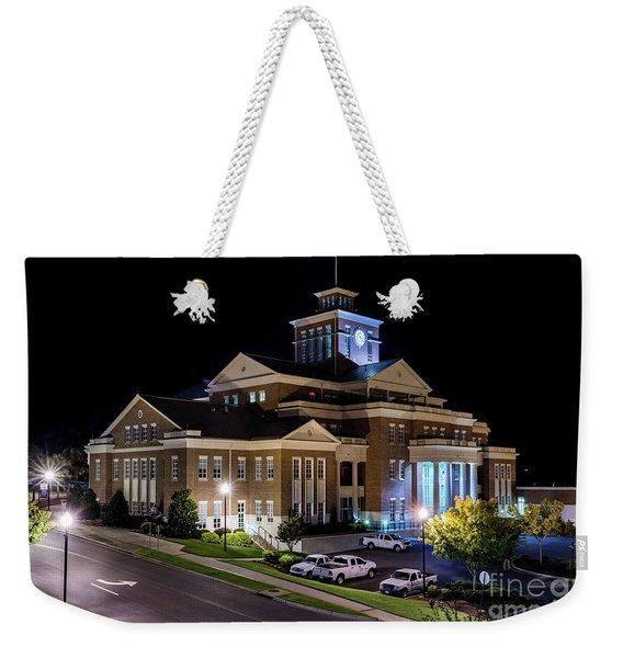 Municipal Center At Night - North Augusta Sc Weekender Tote Bag