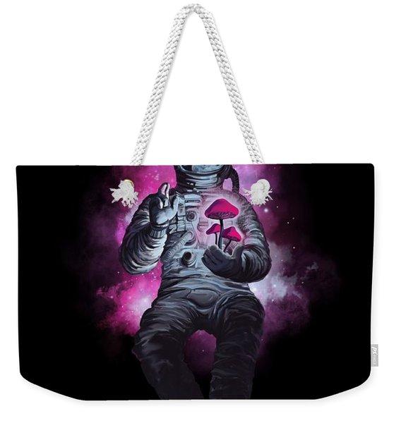 Mushroom Cosmonaut Space Traveller Weekender Tote Bag