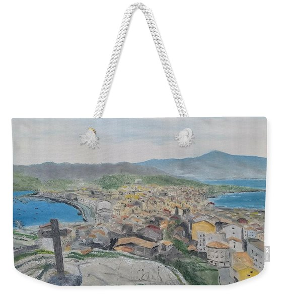 Weekender Tote Bag featuring the painting Muxia by Kevin Daly