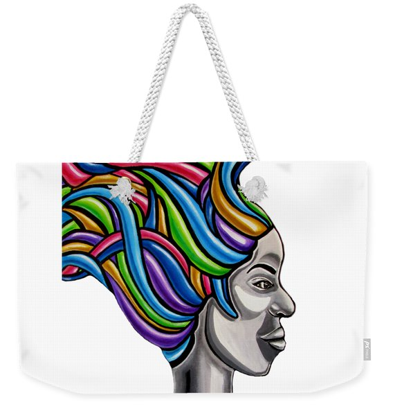 Abstract Face Painting Black Woman Art African Goddess Art Medusa Ai P. Nilson Weekender Tote Bag