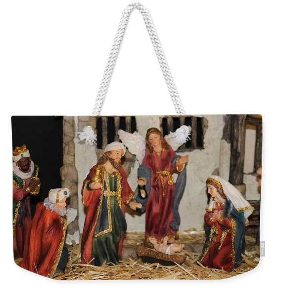 My German Traditions - Christmas Nativity Scene Weekender Tote Bag